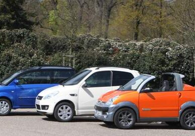 Essai mini voitures Ligier, Micro car et Aixam. Paris le 11/04/2008. Photo Paul Delort/ Le Figaro