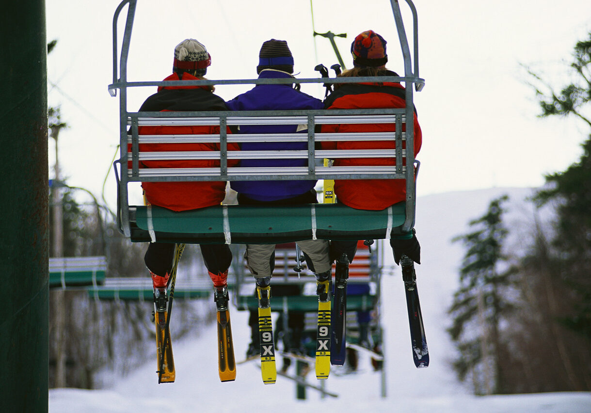 Riding Ski Lift ca. 2000