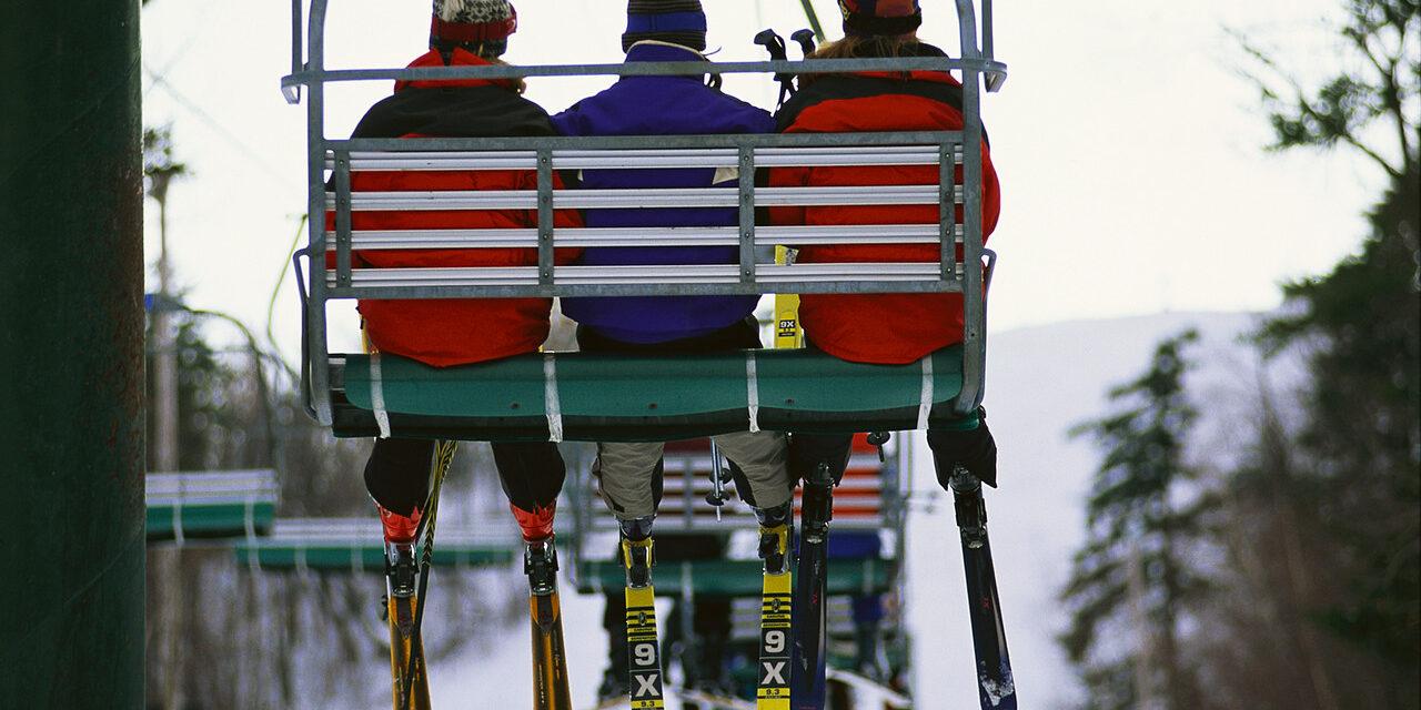 Riding Ski Lift ca. 2000
